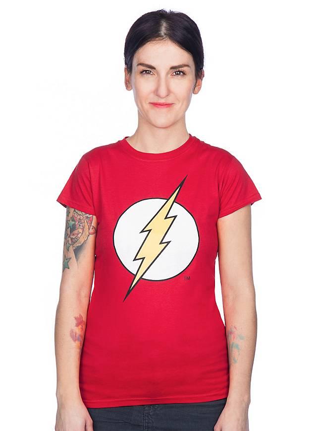 The Flash Girlie Shirt Logo