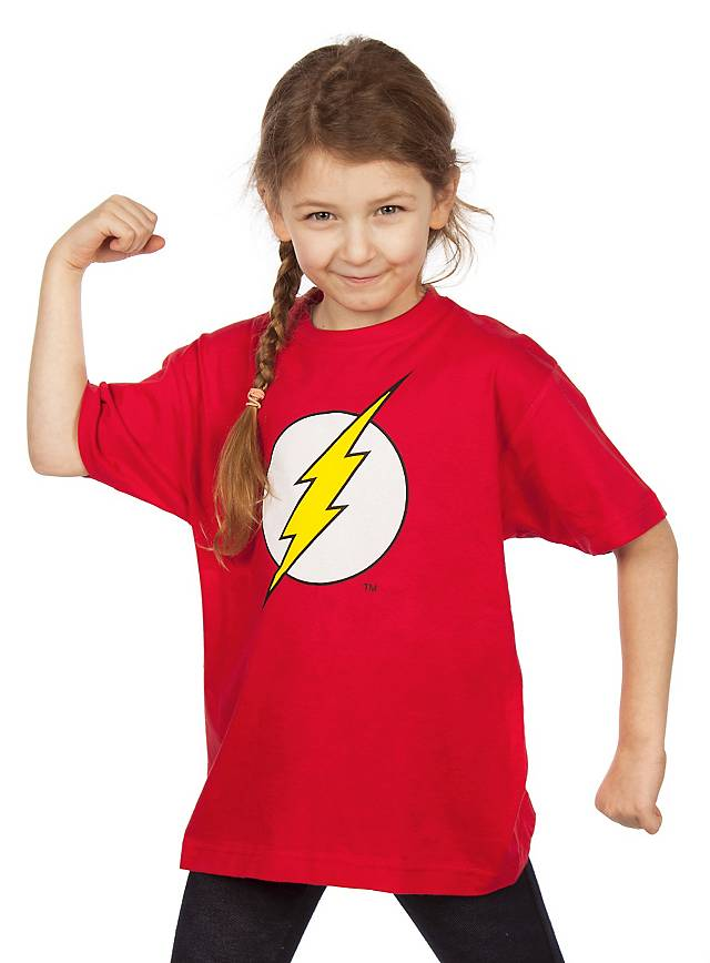 The Flash T Shirt Superhelden Nerd Shirts Für Kids Maskworldcom