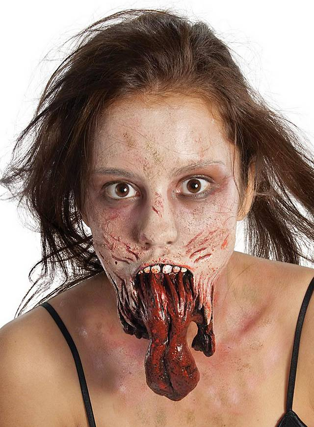 The Walking Dead Zombie Kiefer Latex-Applikation