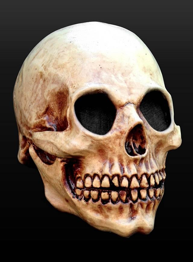 Totenschädel Maske aus Latex