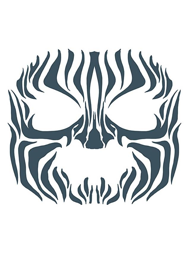 Tribal zebra temporary face tattoo for Fake tribal tattoos
