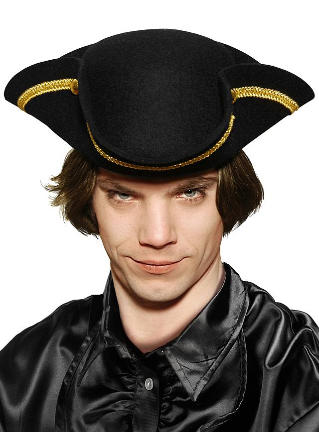 Tricorn Hat  with gold border