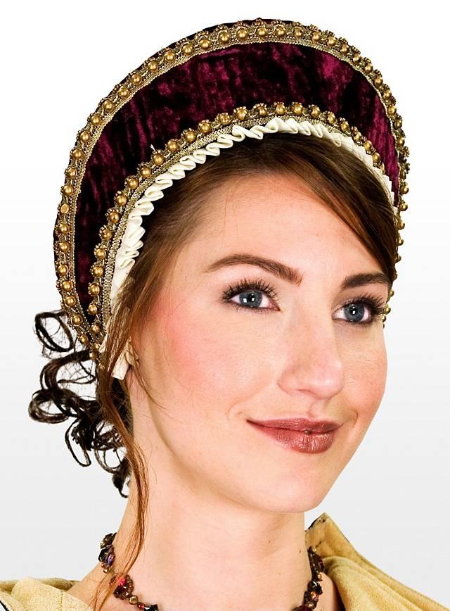 Tudorhaube burgund
