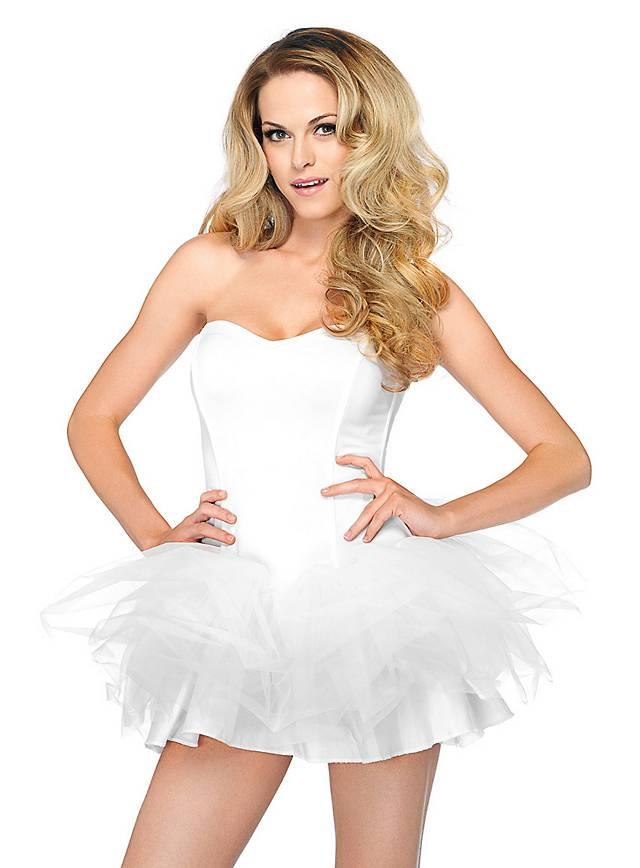 Tutu Kleid weiß mit abnehmbaren Trägern