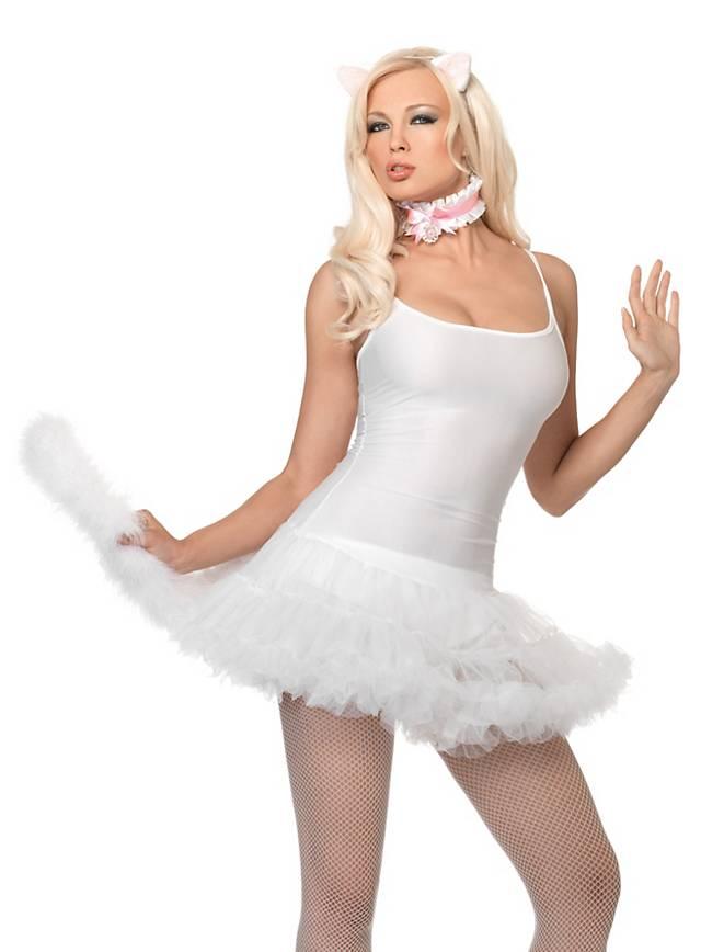 Tutu Trägerkleid weiß