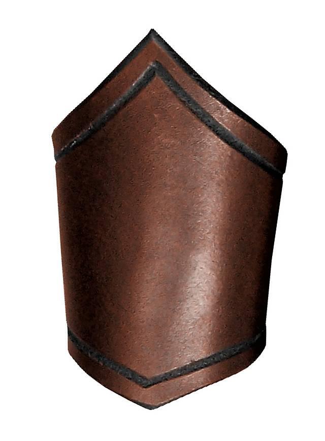 Unterarmreif aus Leder braun