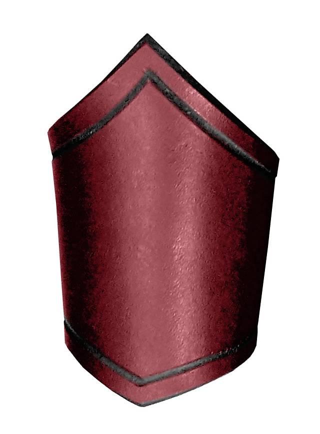 Unterarmreif aus Leder rot