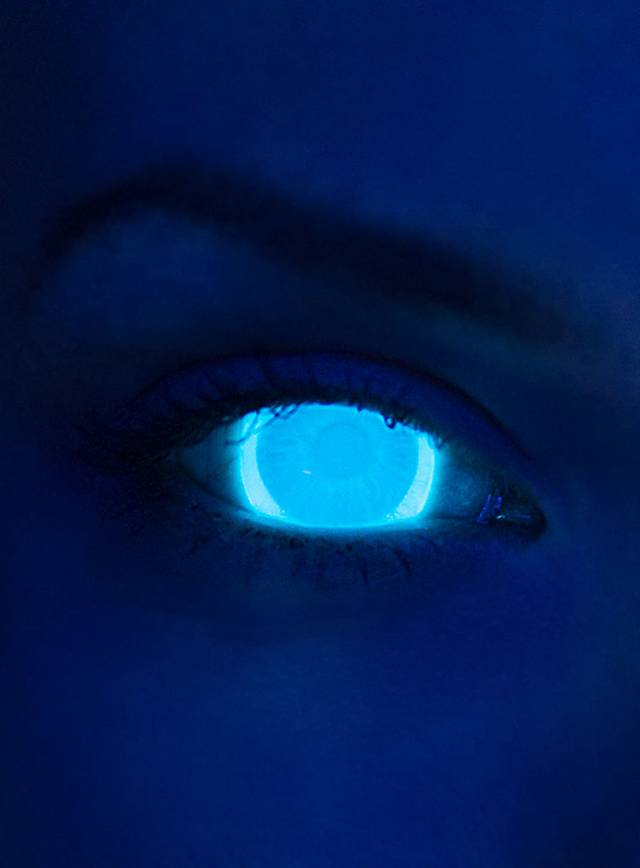 Uv Light Blue Contact Lenses
