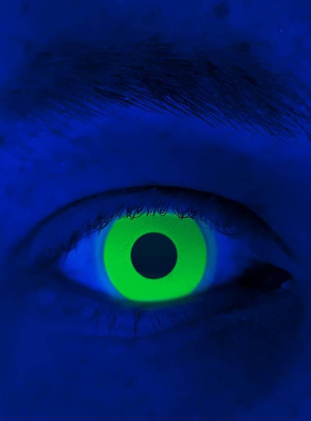 UV vert Lentilles de contact