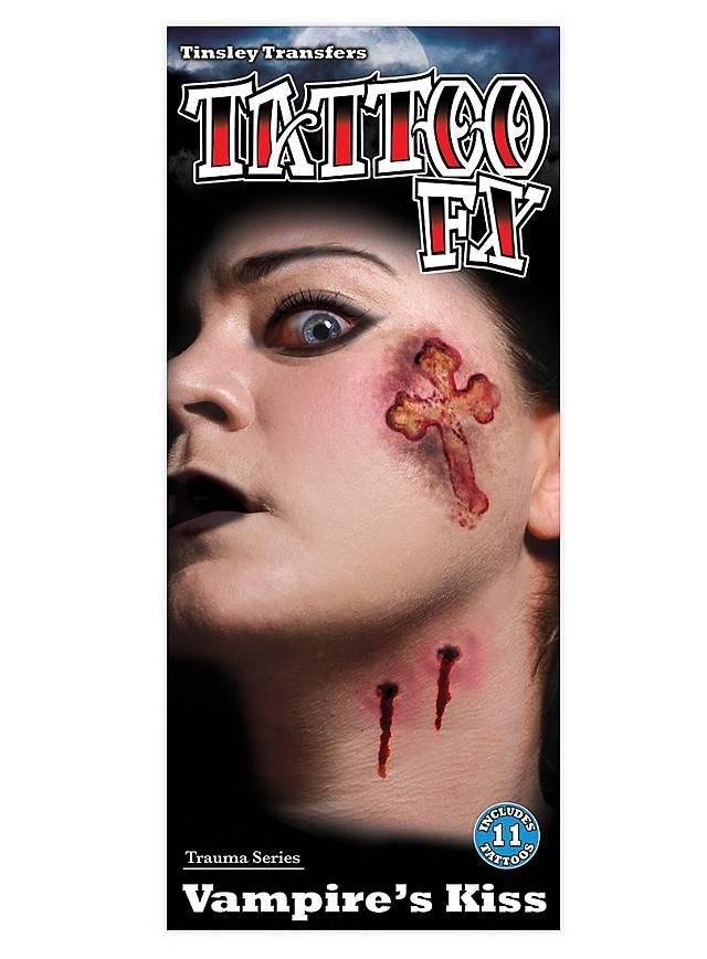 Vampire Kiss Temporary Tattoo