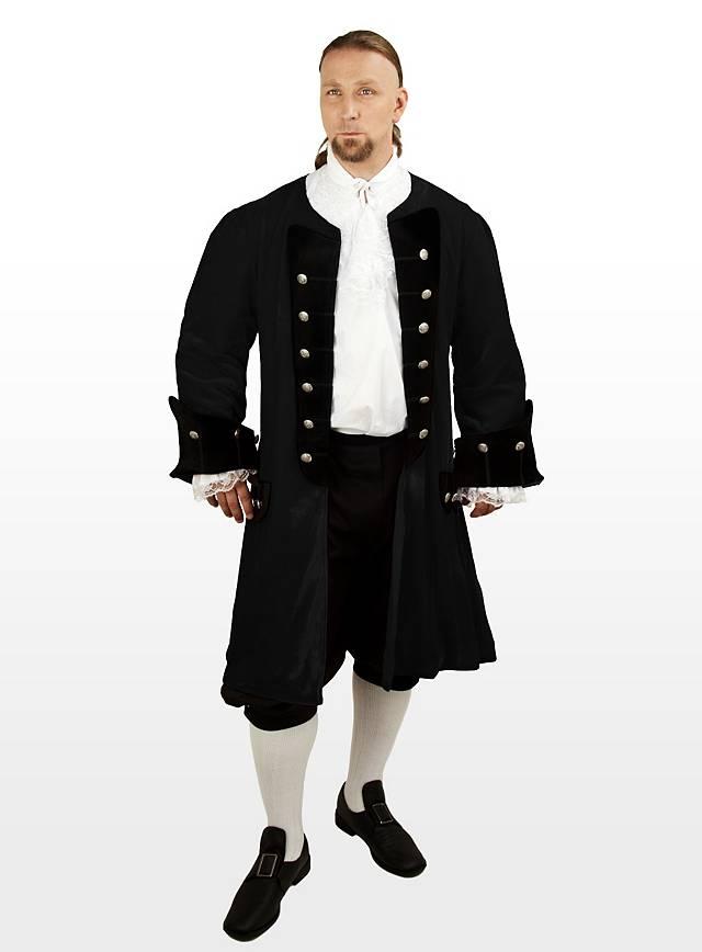 Velvet Dress Coat black