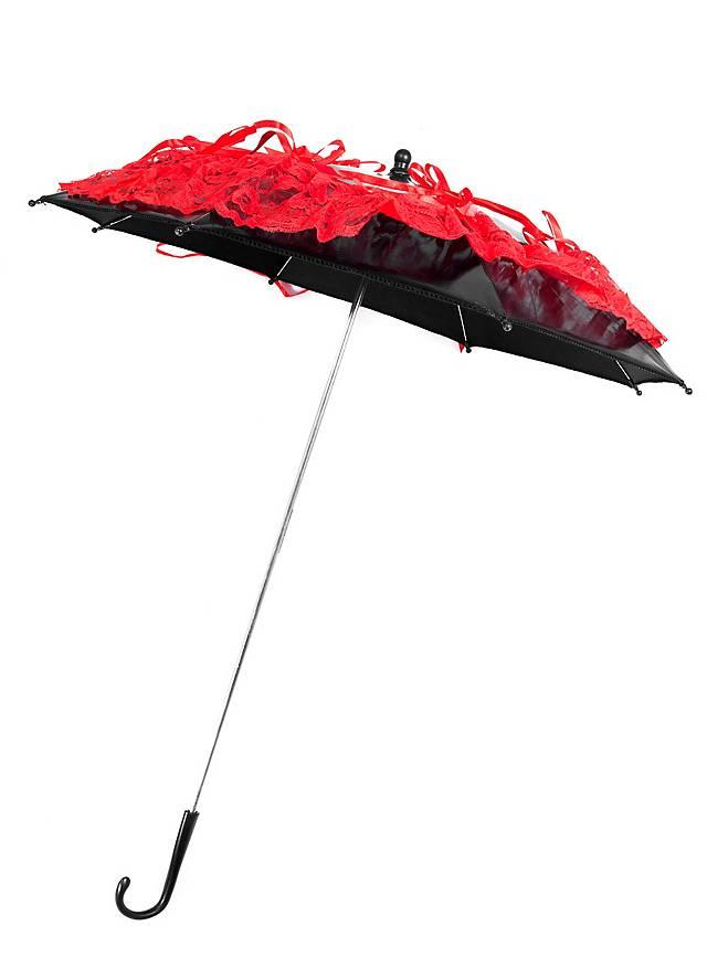Victorian Parasol black & red