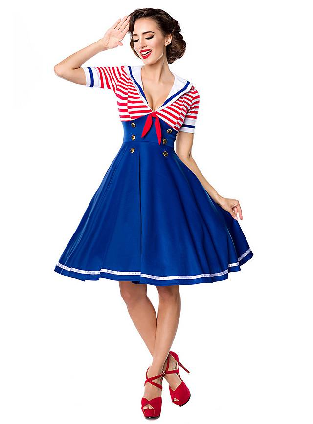 Vintage Swing-Kleid Sailor