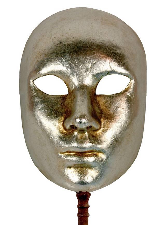 Volto argento con bastone - Venezianische Maske