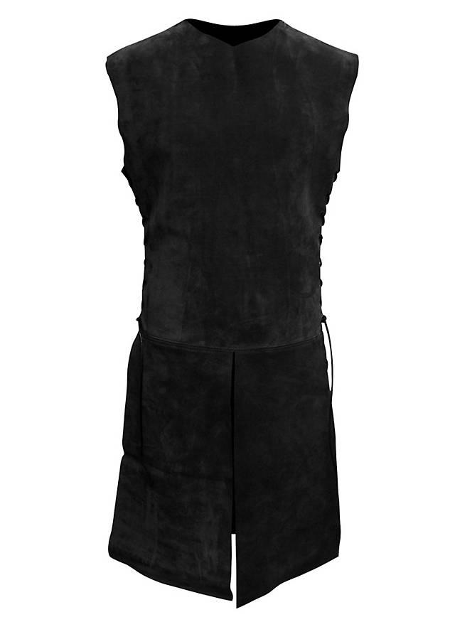 Waffenrock aus Leder schwarz