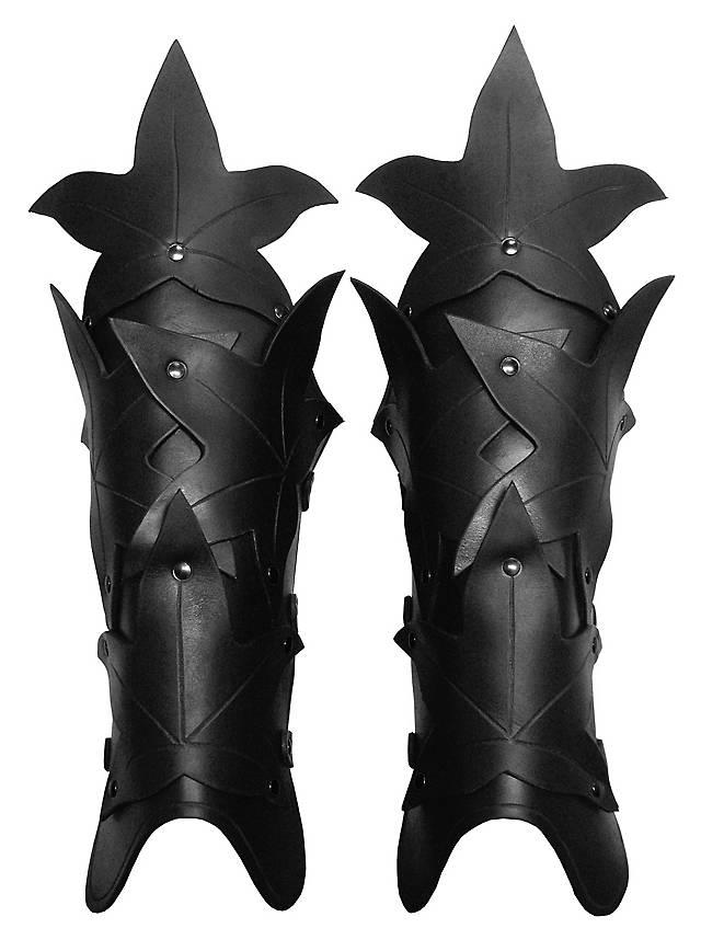 Waldelfe Beinschienen schwarz