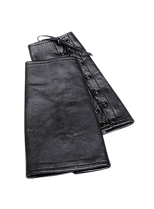 Weiche Lederarmschienen schwarz