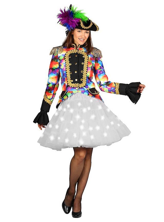 Weißer LED Petticoat weiß leuchtend