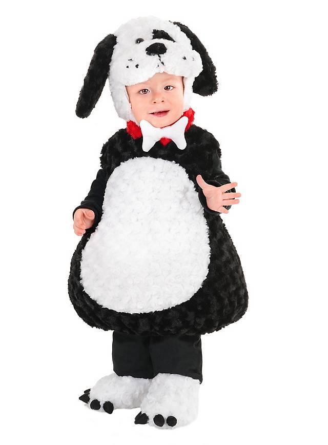 Welpe Kinderkostüm schwarz-weiß