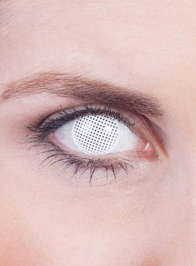 White Mesh Prescription Contact Lens
