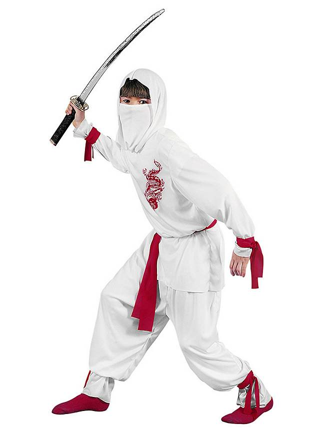 White Ninja Kids Costume  sc 1 st  maskworld.com & White Ninja Kids Costume - maskworld.com