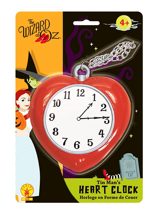 Wizard Of Oz Tin Man Heart Clock Maskworld Com