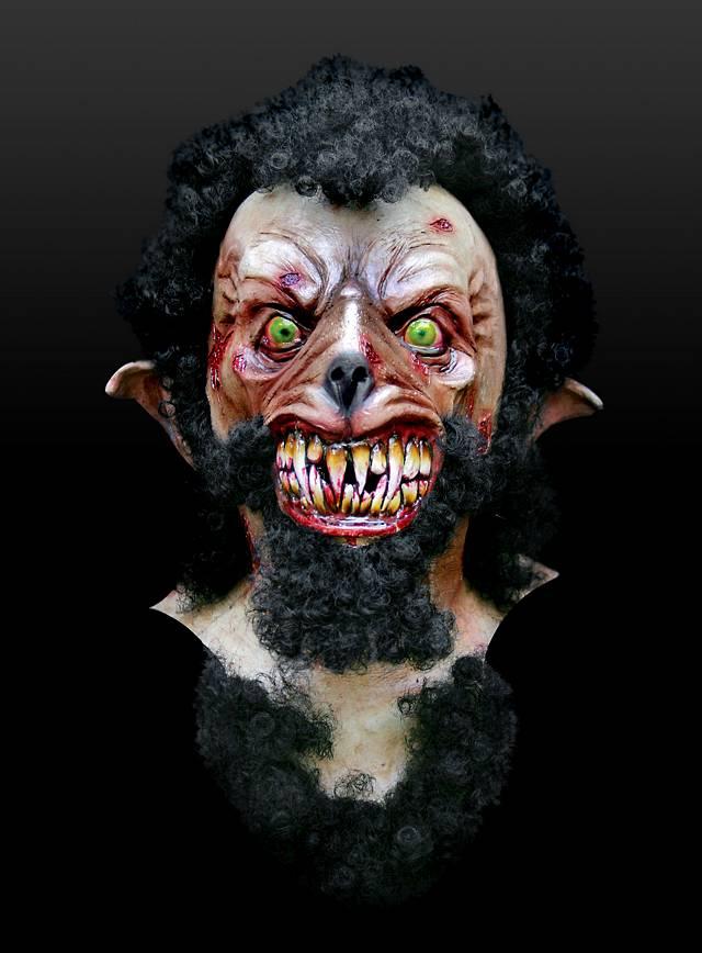 Wolfsmensch Maske aus Latex