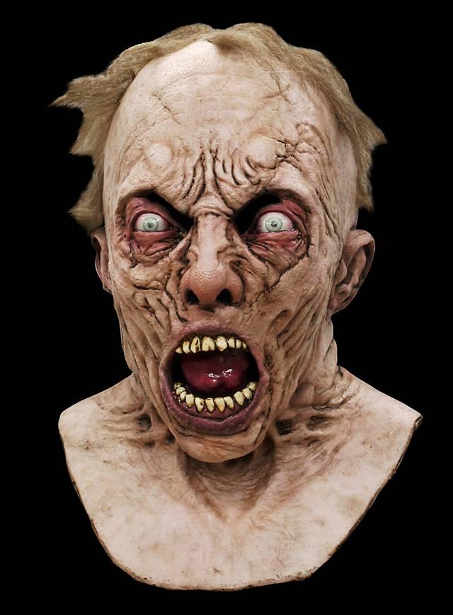 World War Z Wissenschaftler Zombie Deluxe Maske aus Latex