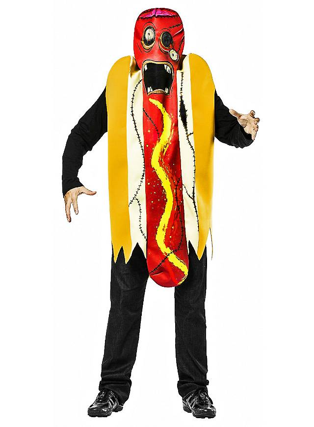 zombie hot dog karnevalskost m. Black Bedroom Furniture Sets. Home Design Ideas