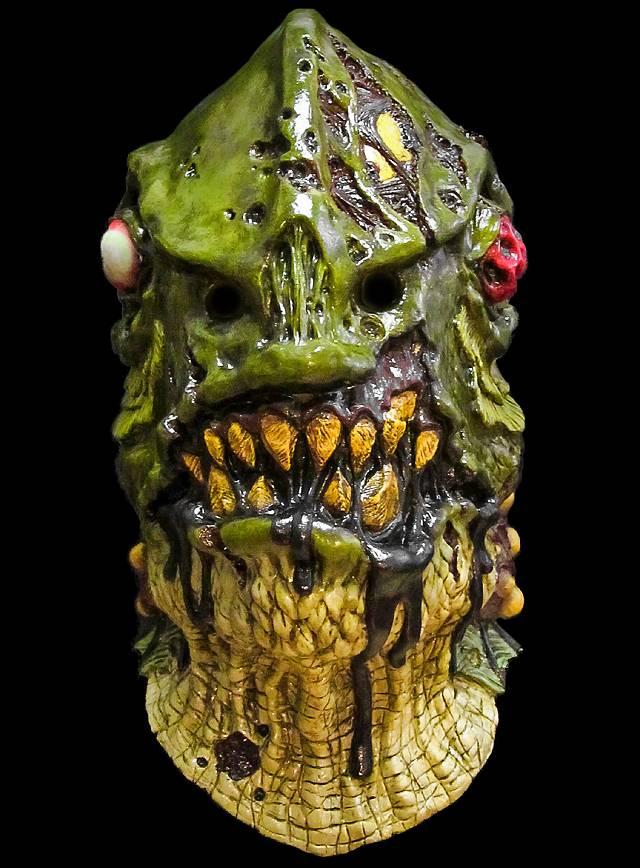 Zombie-Kiemenmensch Maske aus Latex