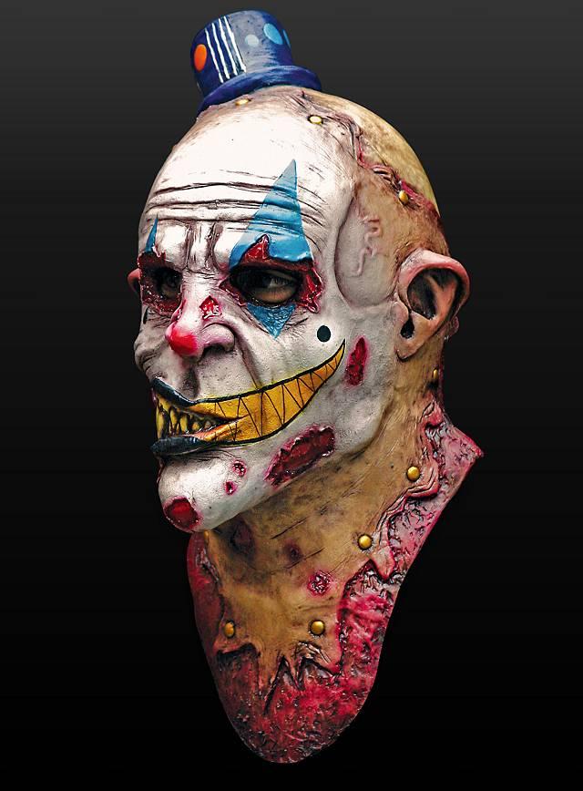Zombieclown Maske aus Latex