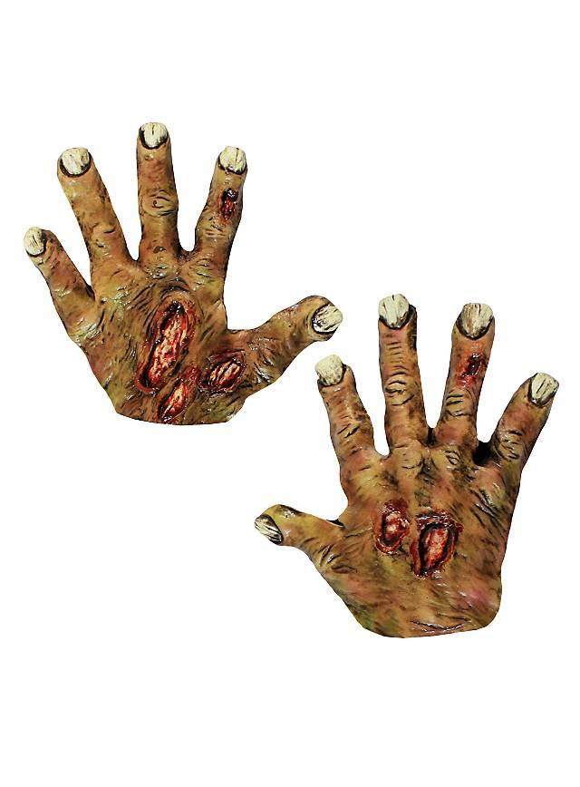 Zombieklauen gelb kurz aus Latex