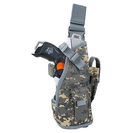 Blasterparts Multi Holster MX- suitable for Nerf Blasters (left) - digi-cam grey