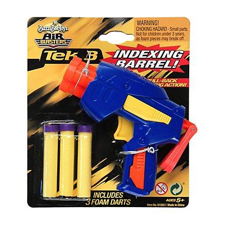 BuzzBee -Tek 3 Dart Blaster - Farbe: Blau