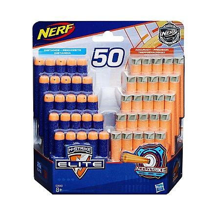 NERF - N-Strike Elite & AccuStrike 50 Dart Refillpack (25 Elite /25 AccuStrike)