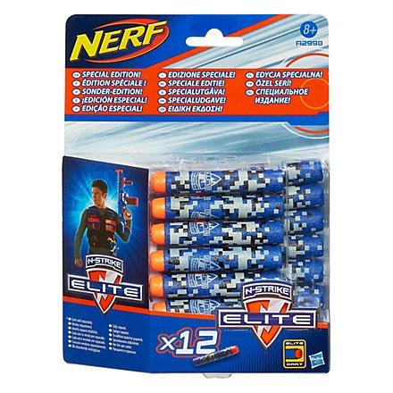 NERF - N-Strike Elite Blue Camouflage Special Edition Clip System Darts 12er Pack