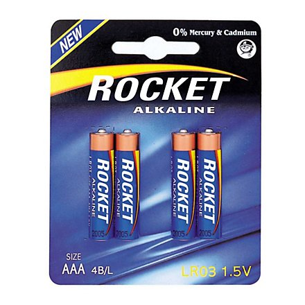 Rocket - Alkaline AAA Batterie, 4er Pack 1,5V (LR3)
