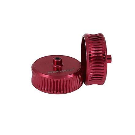 Worker - Gezahnte konkave Flyhweels aus Aluminium (Pink)