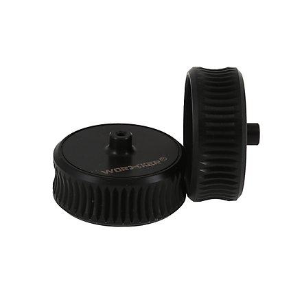 Worker - Gezahnte konkave Flywheels aus Kunststoff (Black)