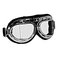 Aviator goggles in chrome