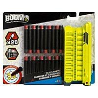 BOOMco. - Clip & Pfeile (gelbes 20er Magazin, schwarz/rote Smart Stick Darts)