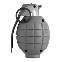 Hand Grenade - grey - toy with sound effect
