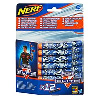 NERF - N-Strike Elite Blue Camouflage Special Edition Clip System Darts 12 Pk