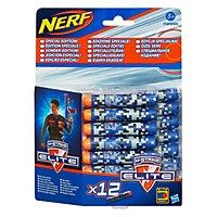 NERF - N-Strike Elite Blue Camouflage Special Edition Clip System Darts 12 Pk