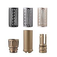 Worker - Flashhider Set Bronzefarben mit Einsätzen in Schwarz, Silber und Grau.
