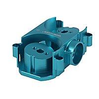 Worker - Flywheelcage aus Aluminium passend für Nerf Styfe und Rapidstrike und Worker Swordfish und Dominator (Blau)