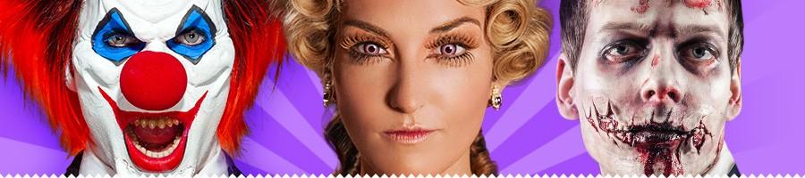 Fasching Schminke, Halloween Make-Up, Blut, Spezialeffekte, Prosthetics, Latex Applikationen, Schaumlatex (Foam) Masken