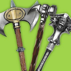 Maces, Hammers, Axes and other Melee Weapons Made of Foamed Latex