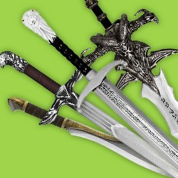 Latex & Foamed Swords: Swords Made of Latex. Long. Broad. Short Swords. One-Handed. Two-Handed