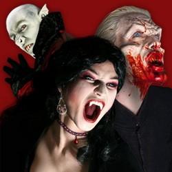 Vampirzähne, Kunstblut & Schminke